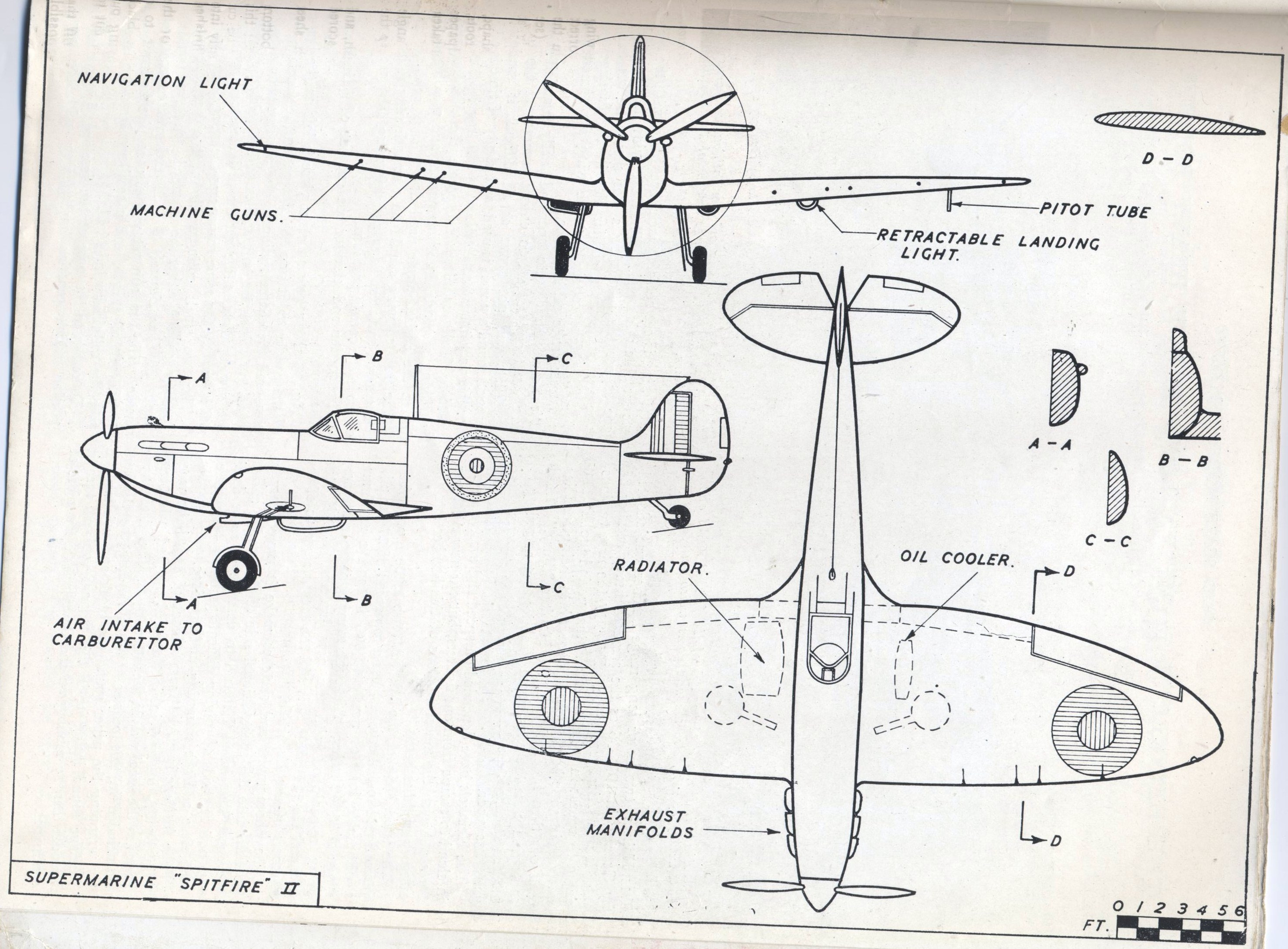 Free coloring pages of supermarine spitfire for Free blueprints online