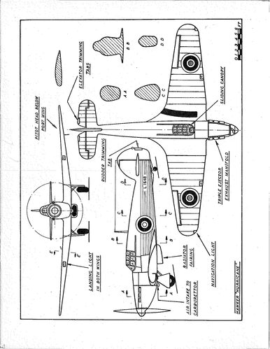 Scale Plans of Military Aircraft - Hawker Hurricane - Solid