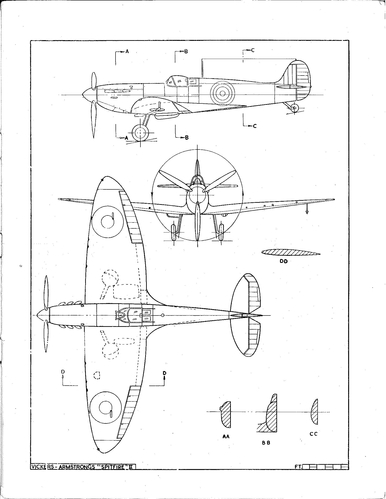 Supermarine Spitfire Plans Drawings http://smm.solidmodelmemories.net/Gallery/displayimage.php?pid=5818
