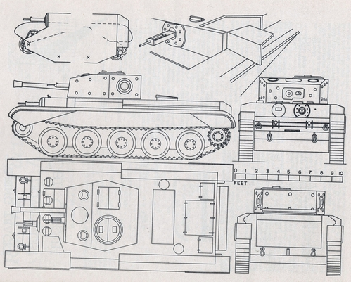 Model maker model cars vehicles the cromwell tank for Cistern plans